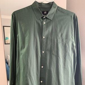 Green Casual Button Down